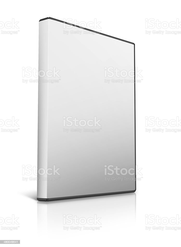 box for DVD on white background stock photo