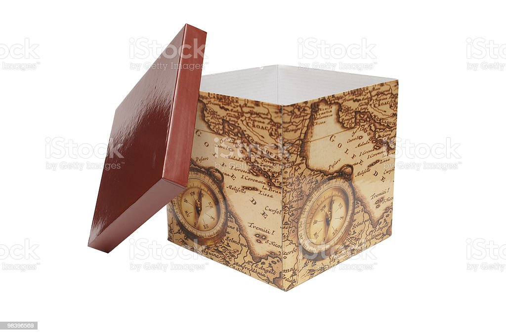 Box for gift royalty-free stock photo