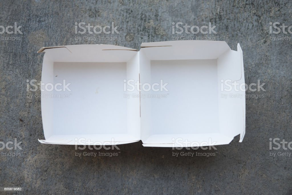 Box for hamburgers. Storing food delivery - Photo