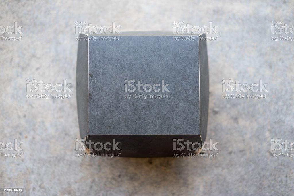 Boîte pour hamburgers. Stockage des aliments, livraison, vue de dessus - Photo