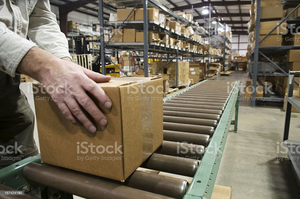 Box for Shipping stock photo