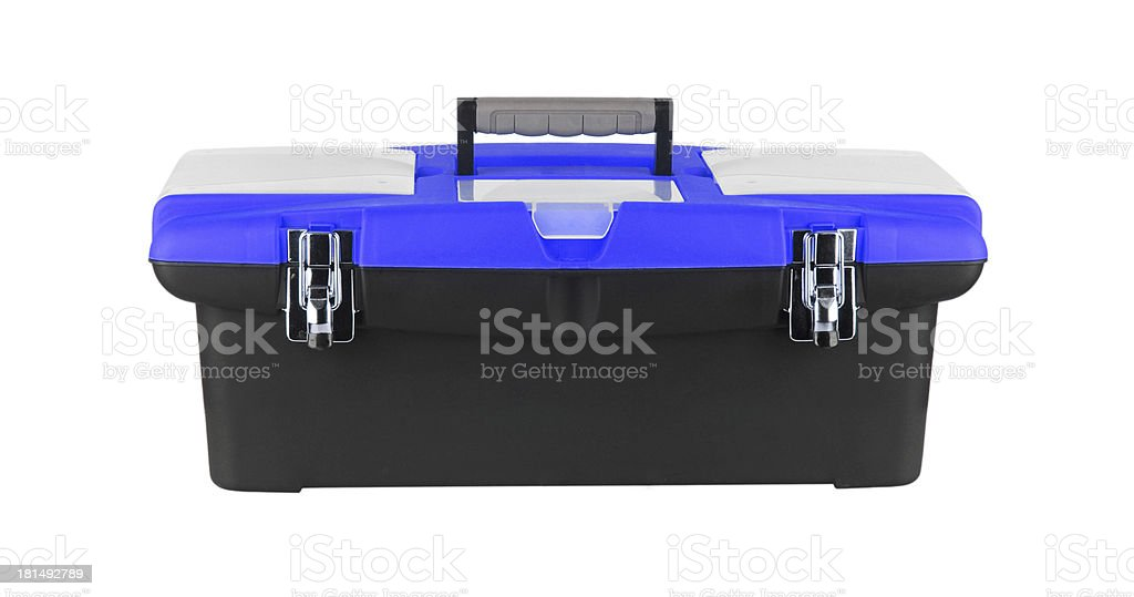 box for tools isolated on white stock photo