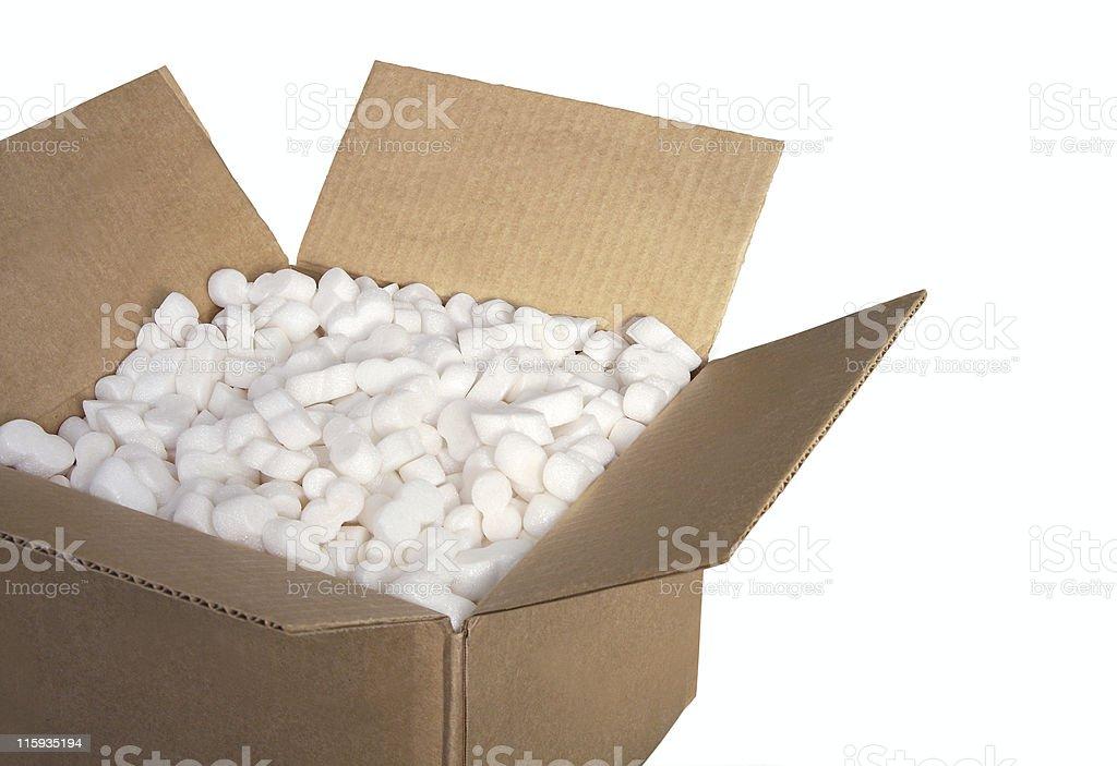 Box full of peanuts royalty-free stock photo