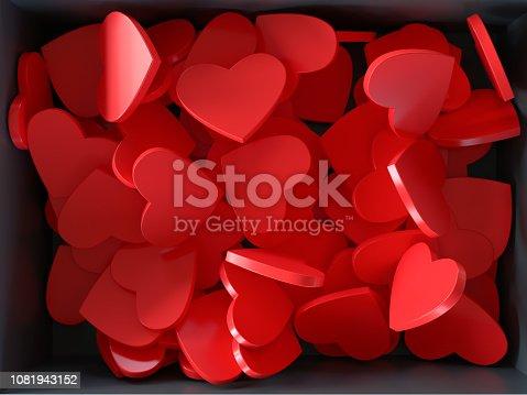 istock Box Full of Red Hearts 1081943152