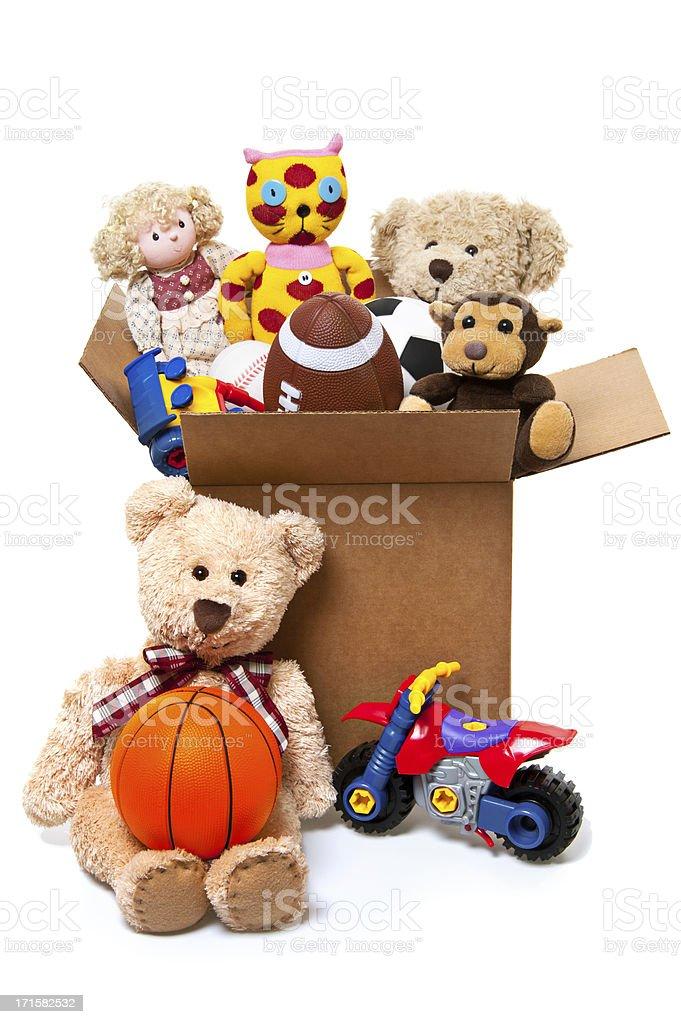Box Full of Toys, Donations royalty-free stock photo