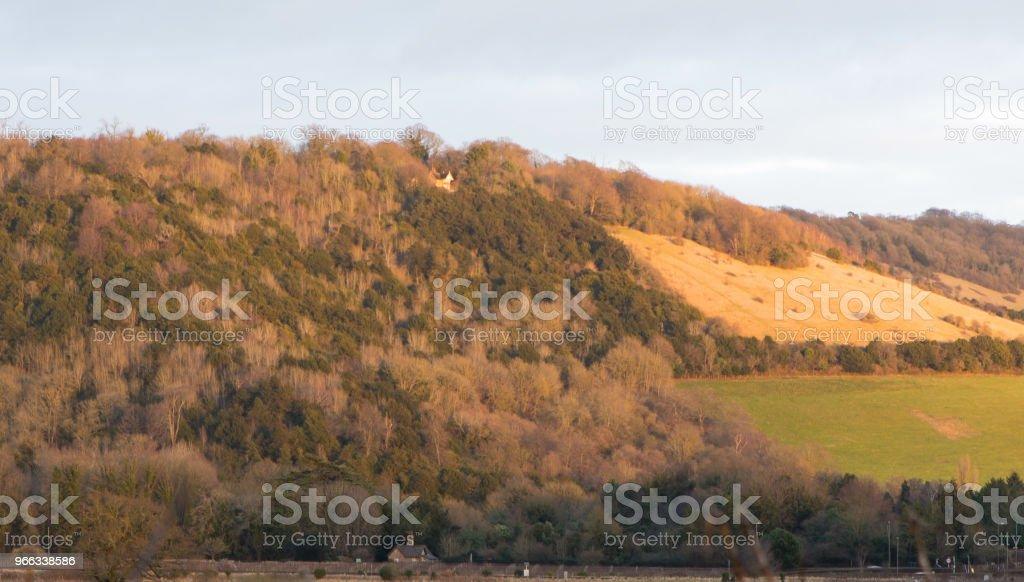 Box Hill near Dorking, Surrey, England stock photo