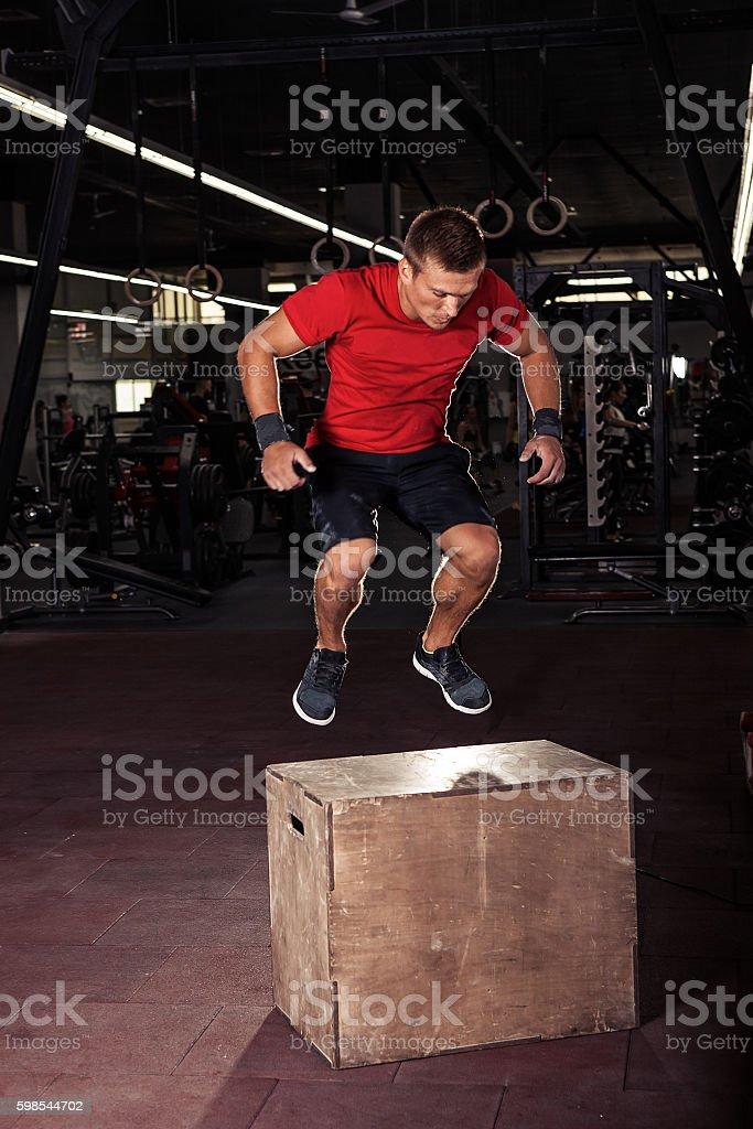 box jumping photo libre de droits