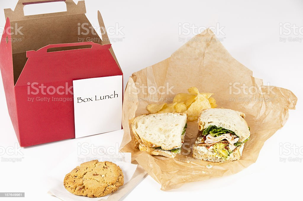 Box Lunch royalty-free stock photo