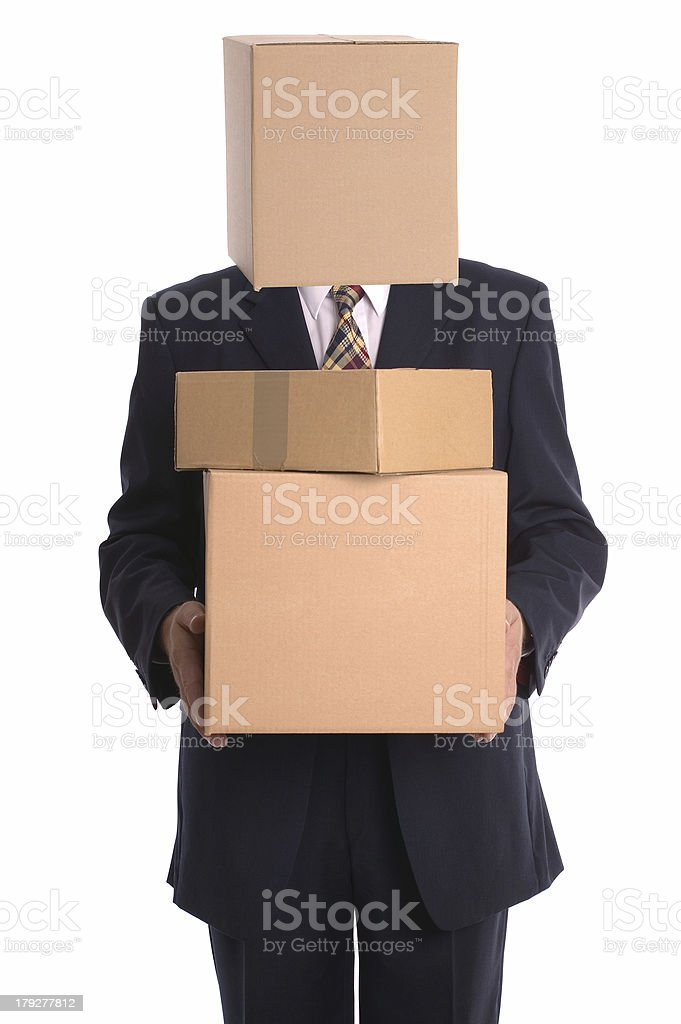Box Man - Delivery royalty-free stock photo