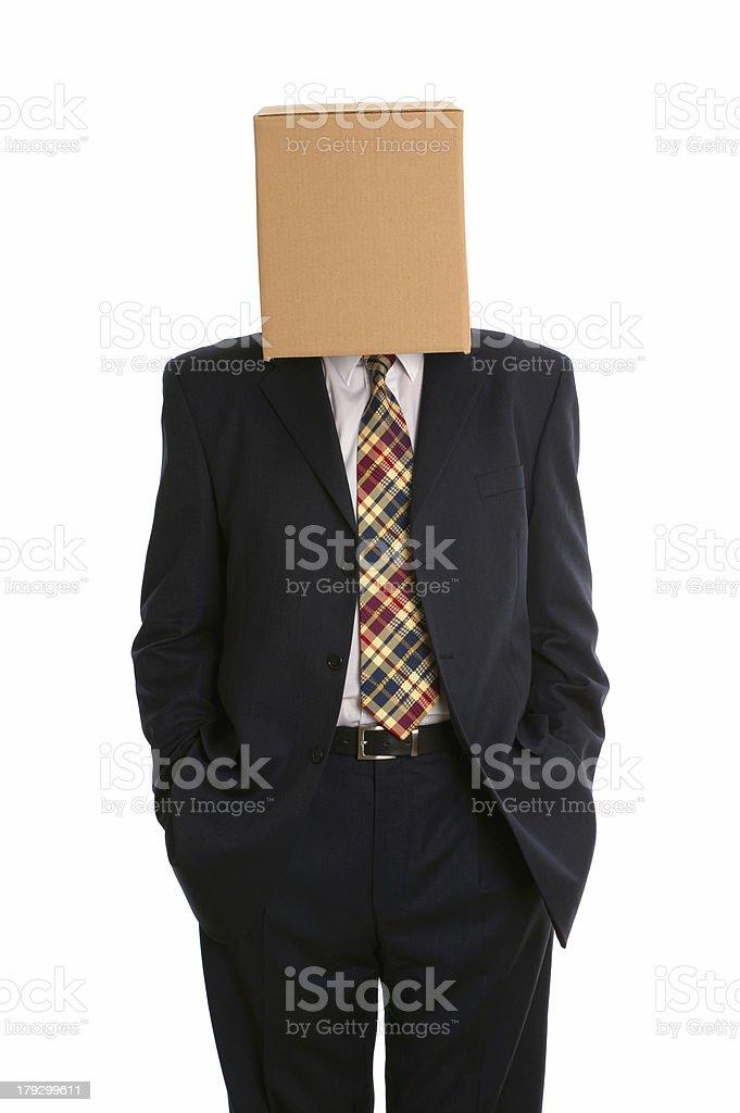 Box man hands in pockets royalty-free stock photo