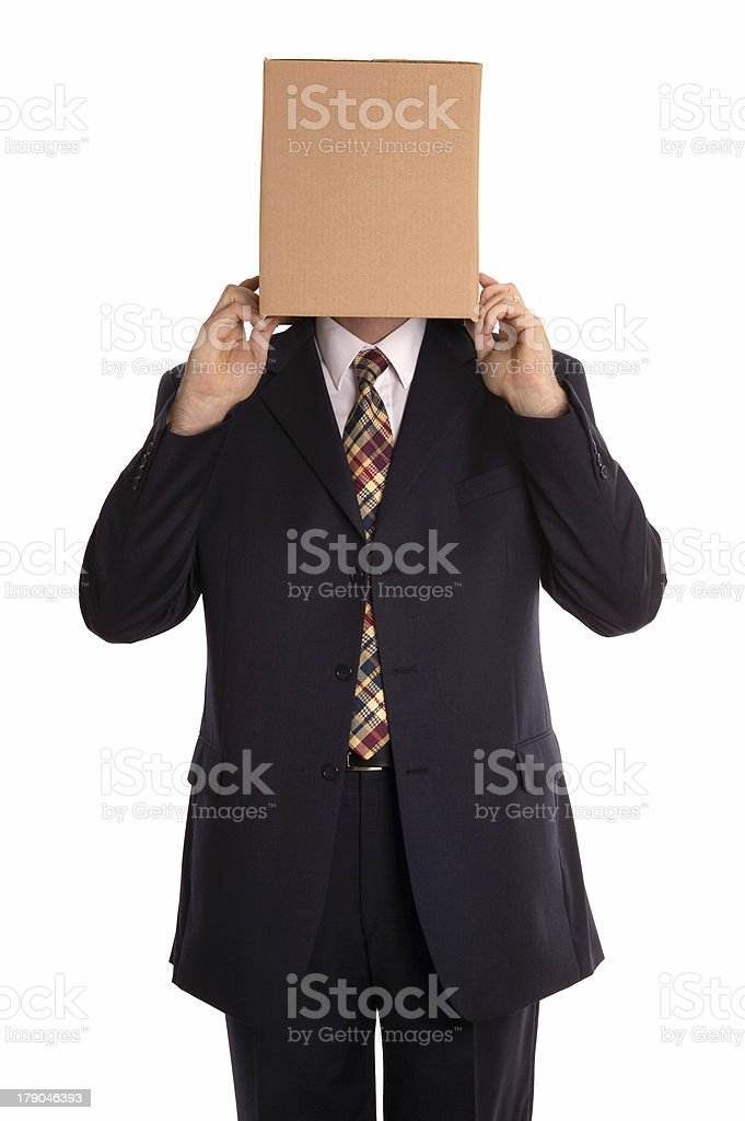 Box man reveal royalty-free stock photo