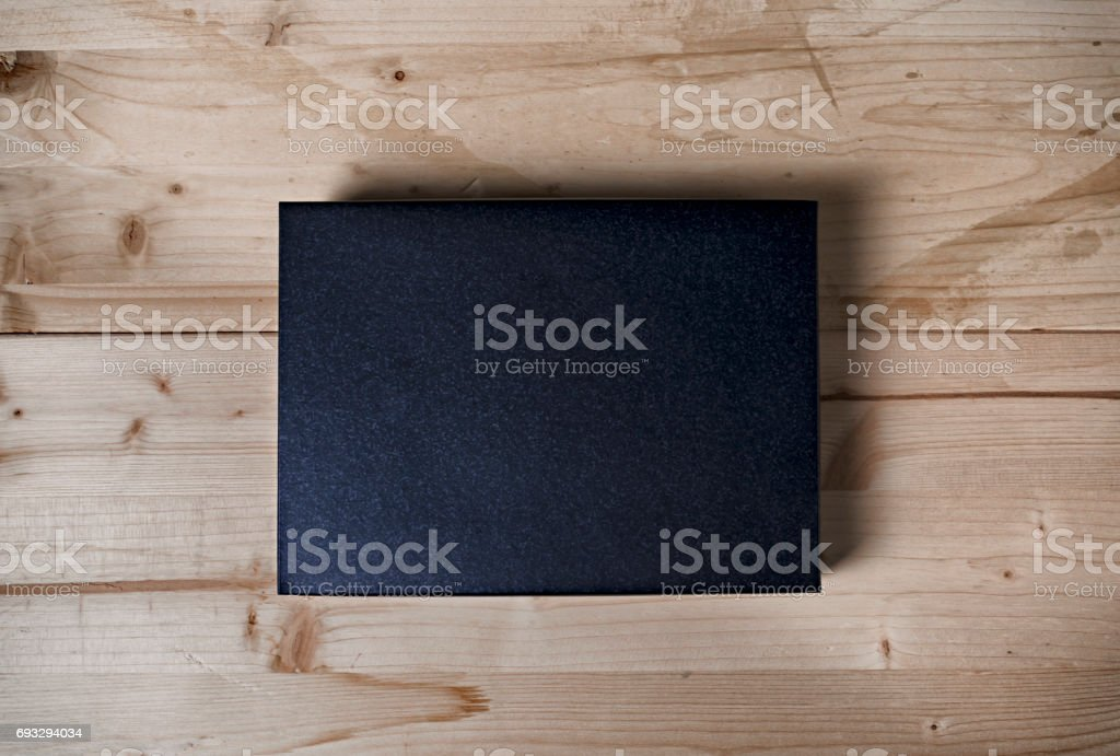 Box mock up stock photo