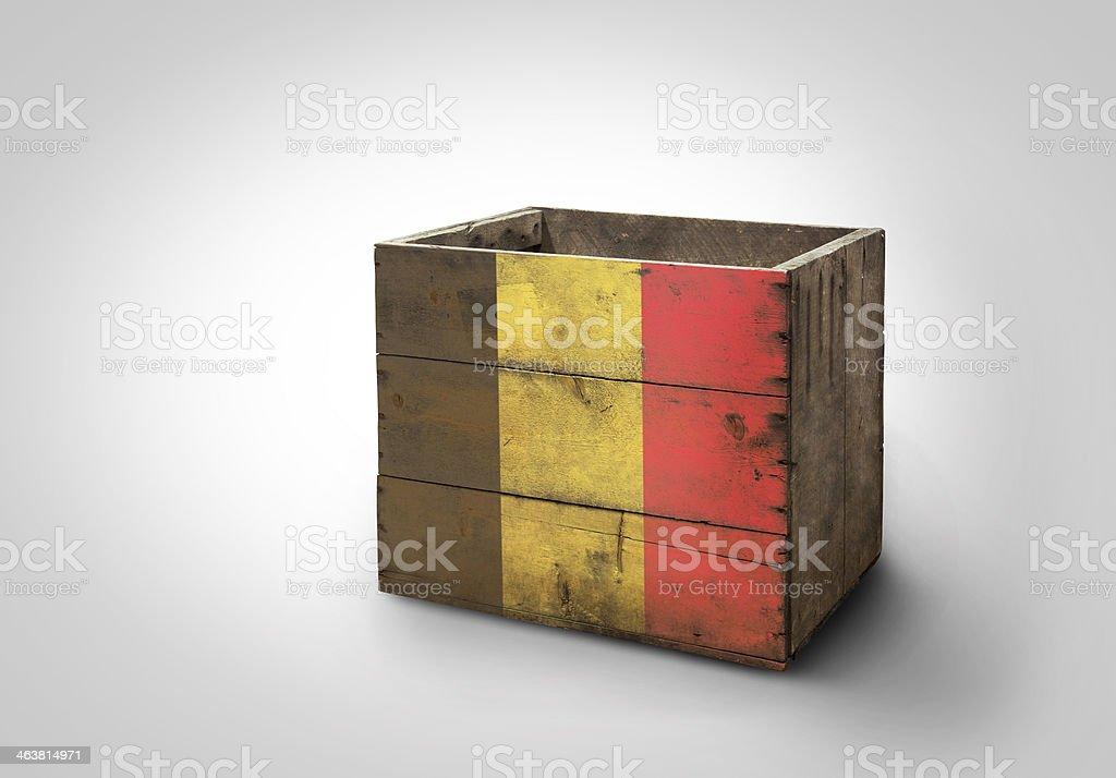 Box of Belgium royalty-free stock photo