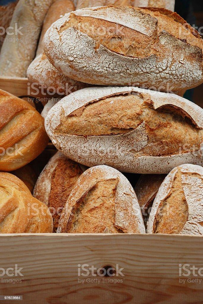 Box of bread royalty-free stock photo