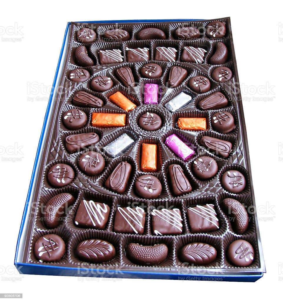 Box of chocolate royalty-free stock photo
