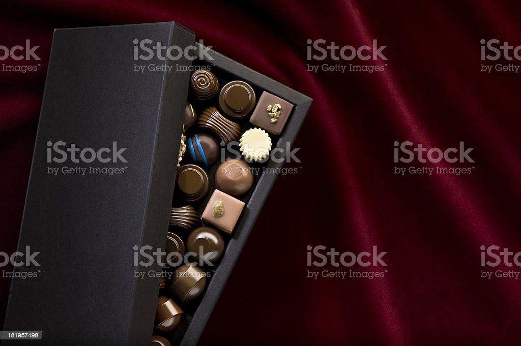Box Of Chocolate Pralines.Color Image stock photo