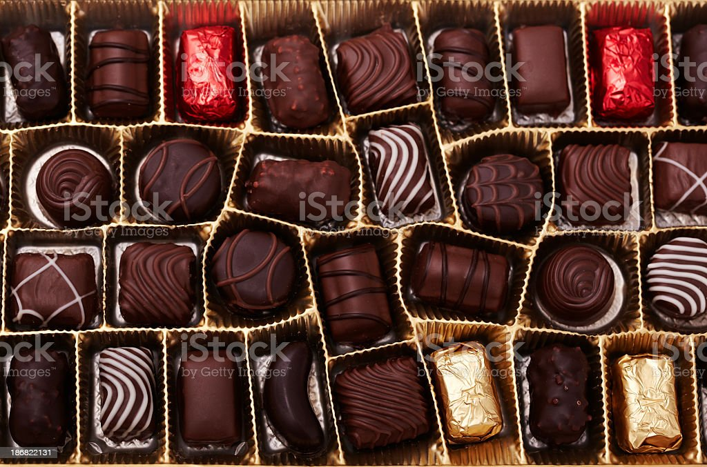 CAJA DE Chocolates - foto de stock