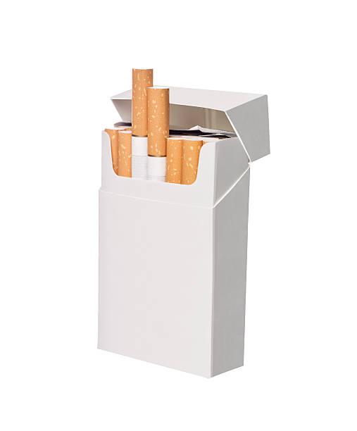 Box of cigarettes stock photo