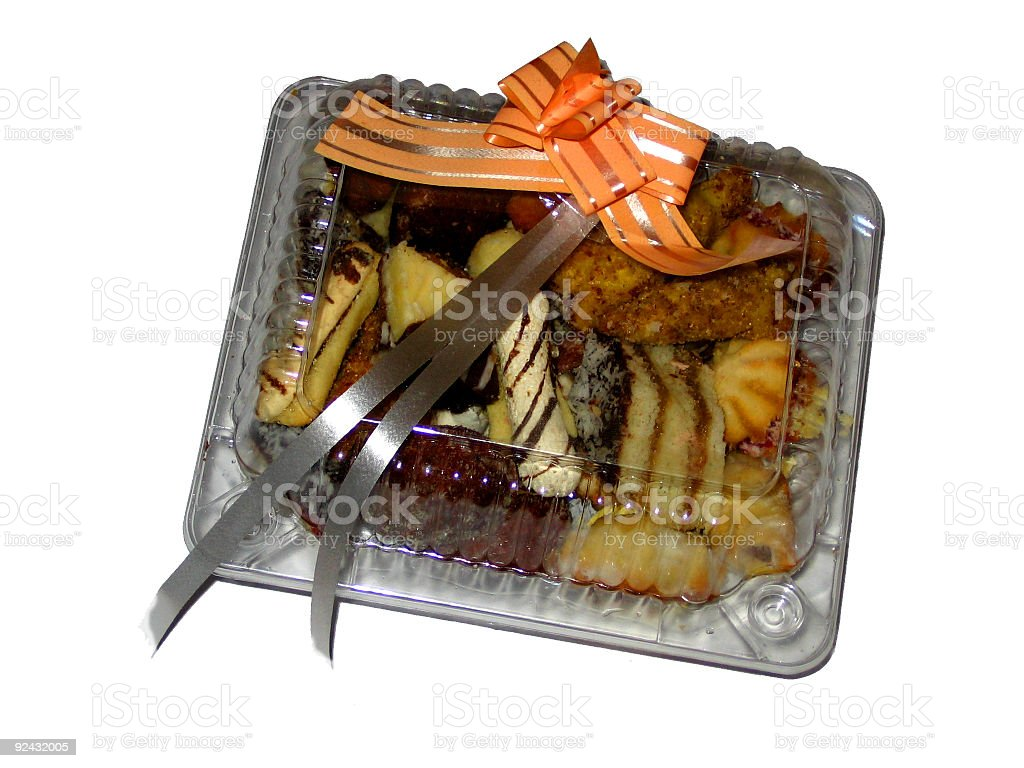 Box of cookies royalty-free stock photo