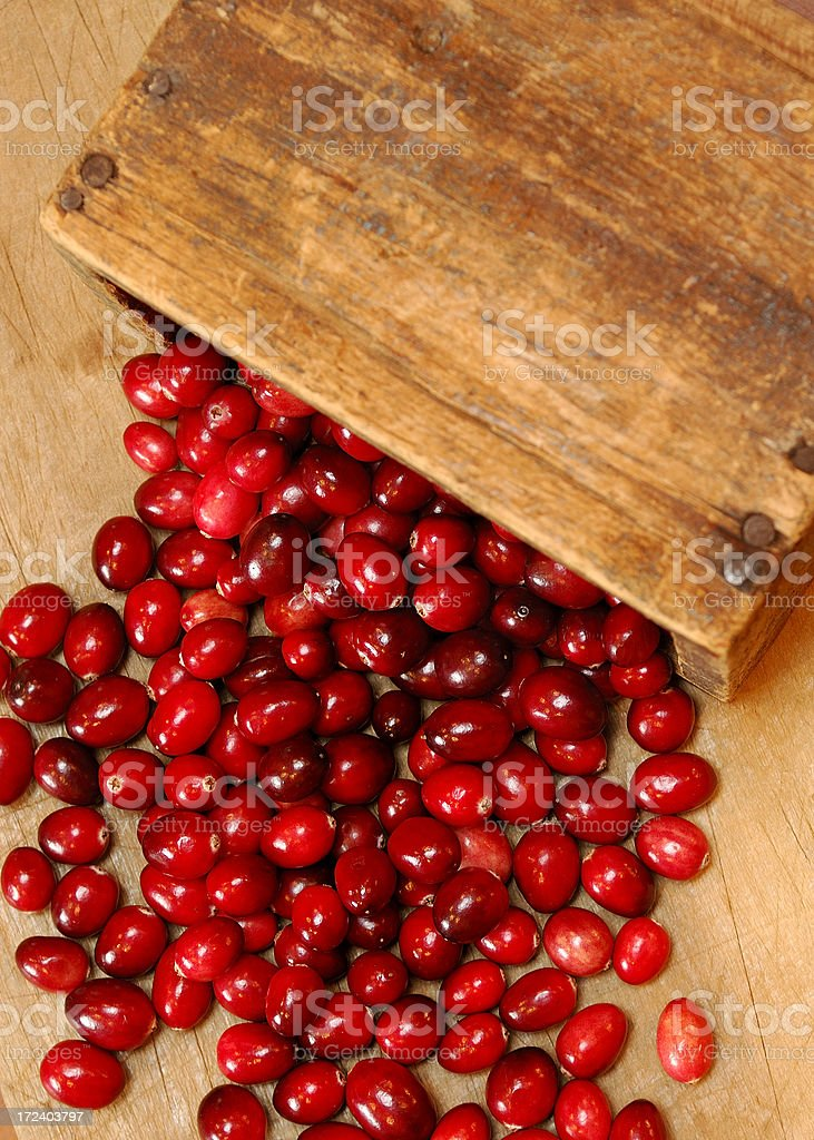 Box of Cranberries royalty-free stock photo