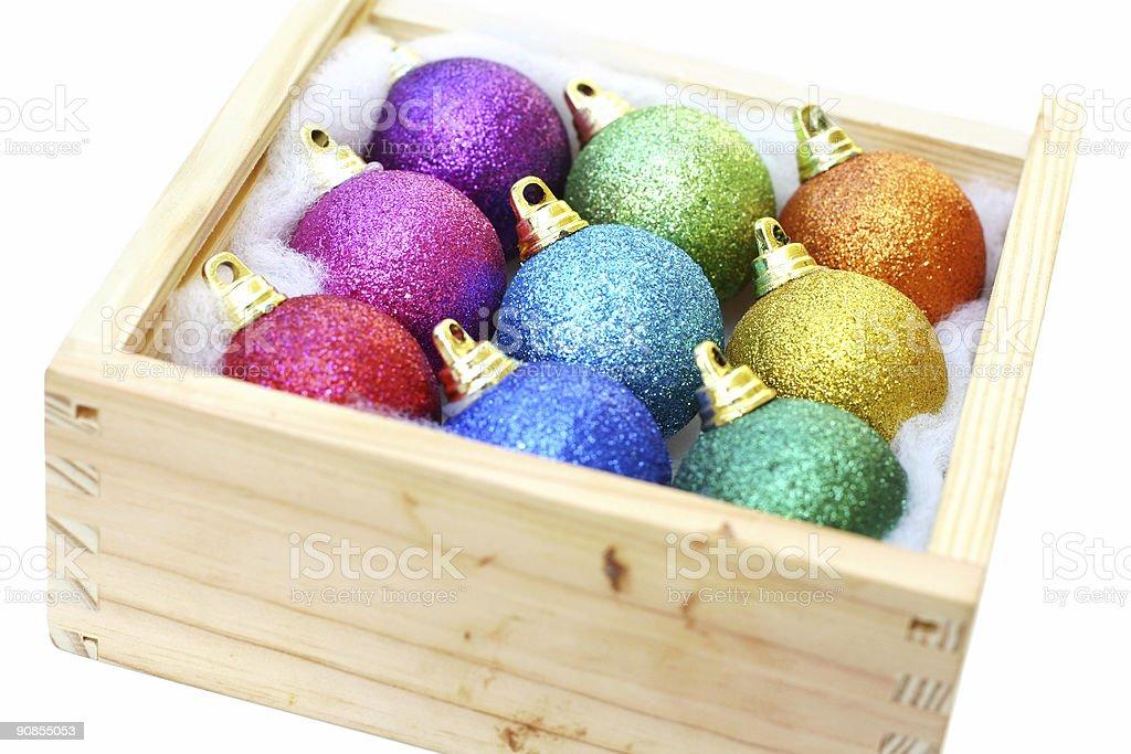 Box of Decorations stock photo