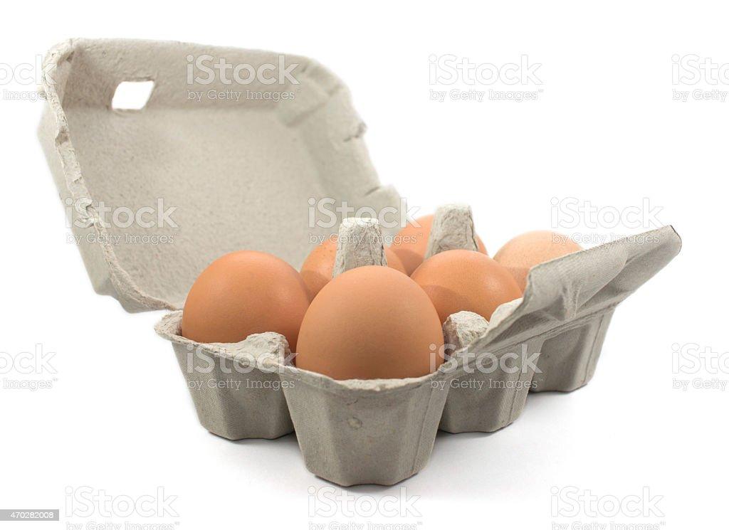 Box of Eggs. stock photo