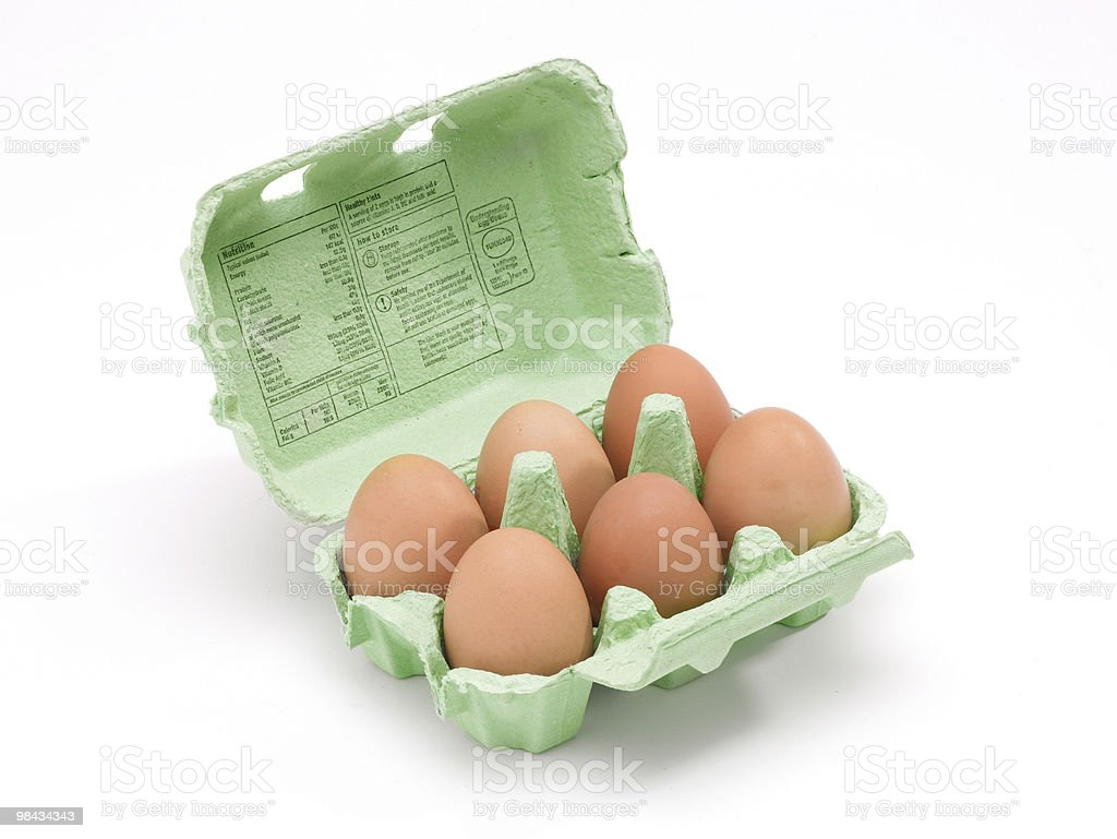 Box of eggs royalty-free stock photo