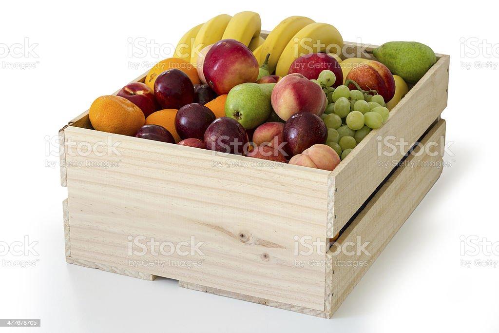 Box of fruit stock photo
