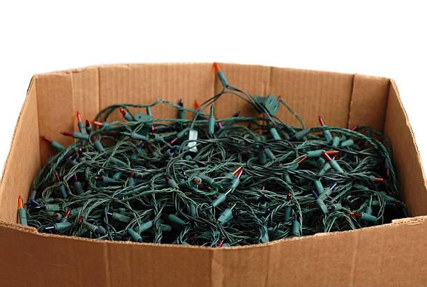 Box of Holiday Stress stock photo