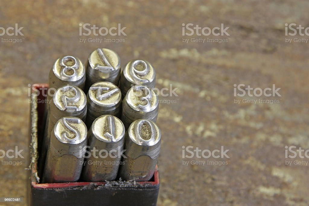 box of letters royalty-free stock photo