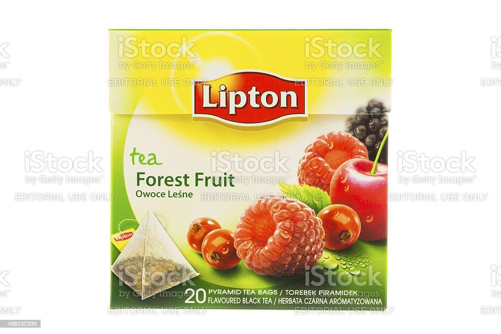 Box of Lipton Tea bags stock photo