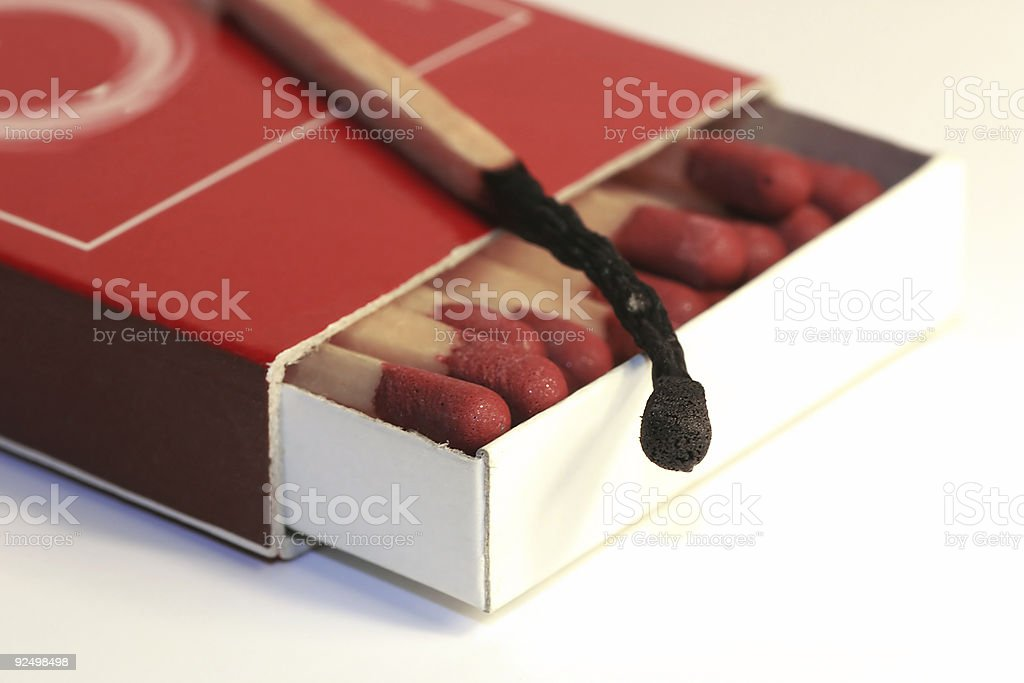 Box of matches royalty-free stock photo