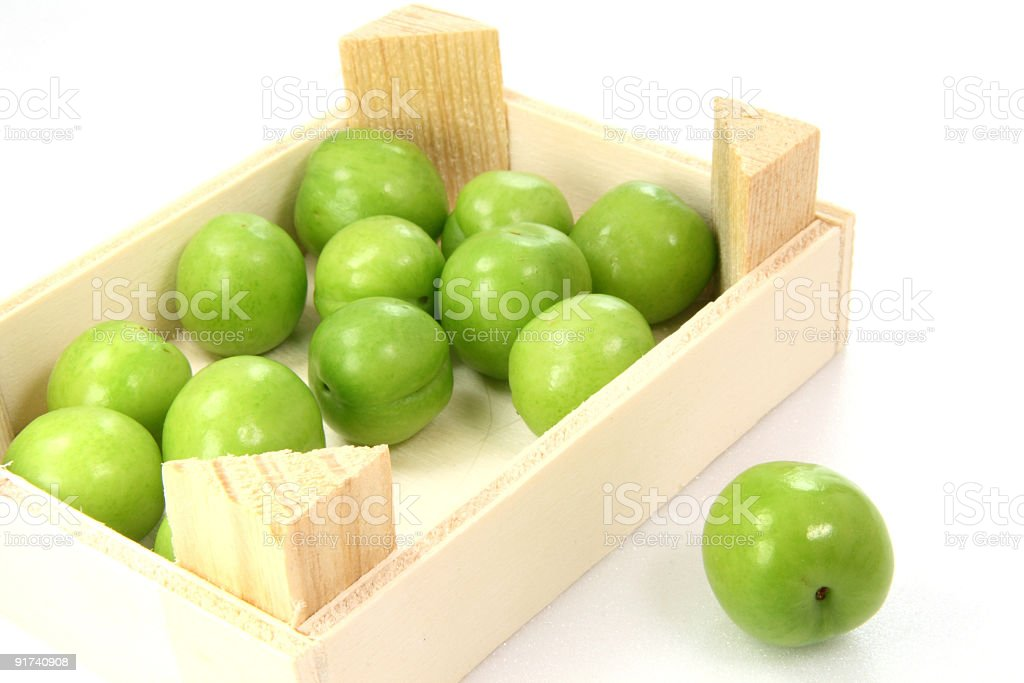 Box of plums royalty-free stock photo