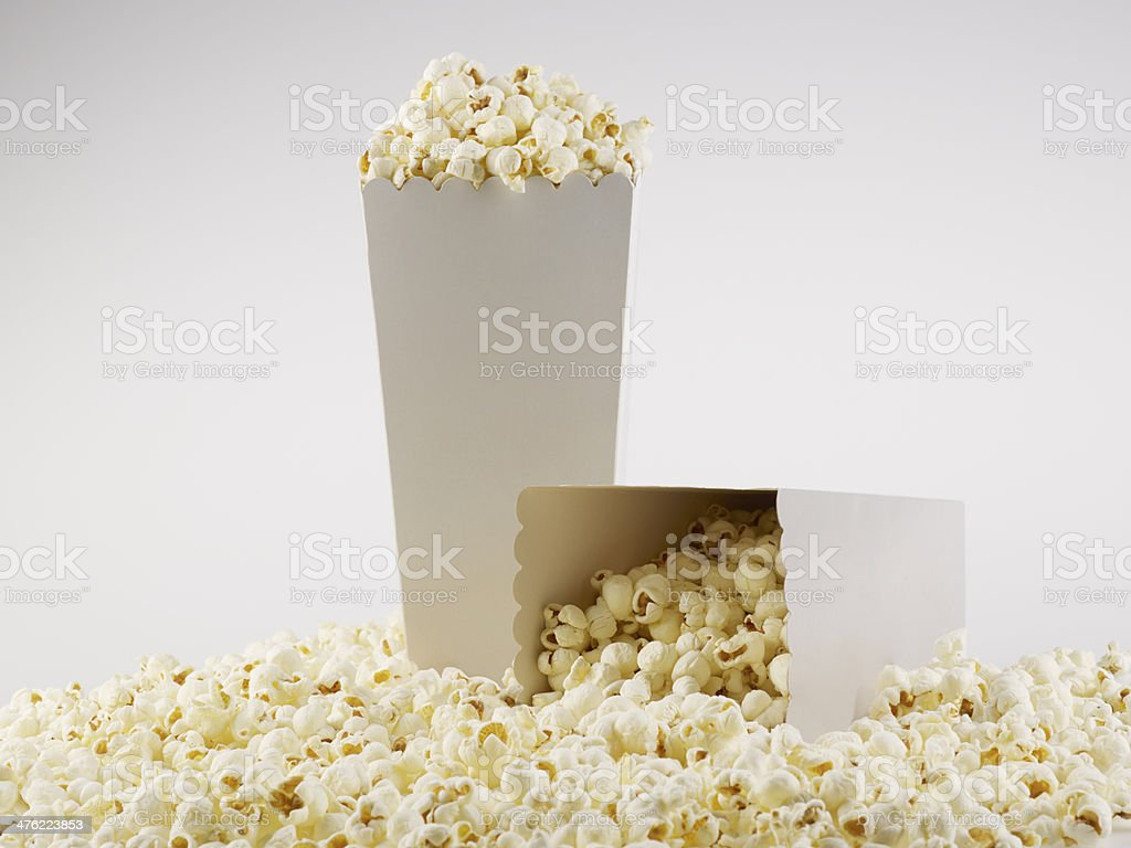 Box Of Pop Corns royalty-free stock photo