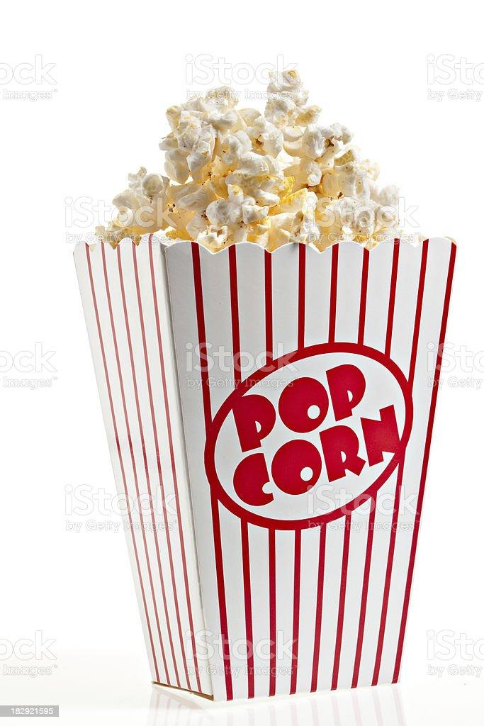 Box Of Popcorn Isolated stock photo