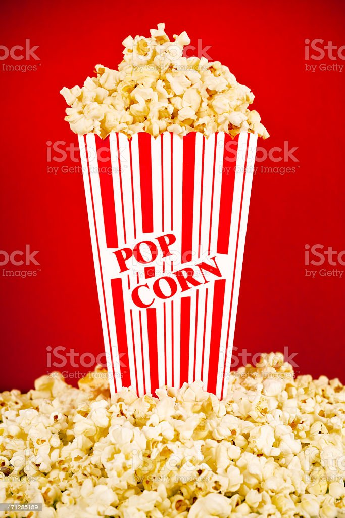 Box of Popcorn royalty-free stock photo