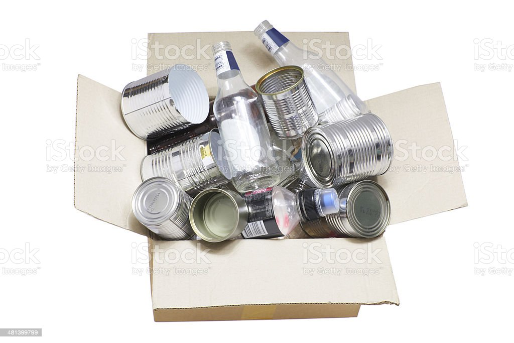 Box of Rubbish for Recycle stock photo