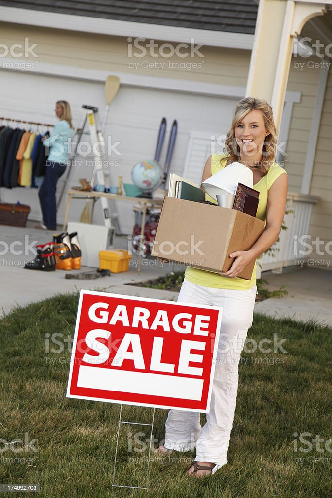 Box Of Stuff To Sell royalty-free stock photo