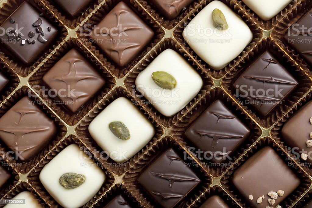 Box of the finest chocolate stock photo