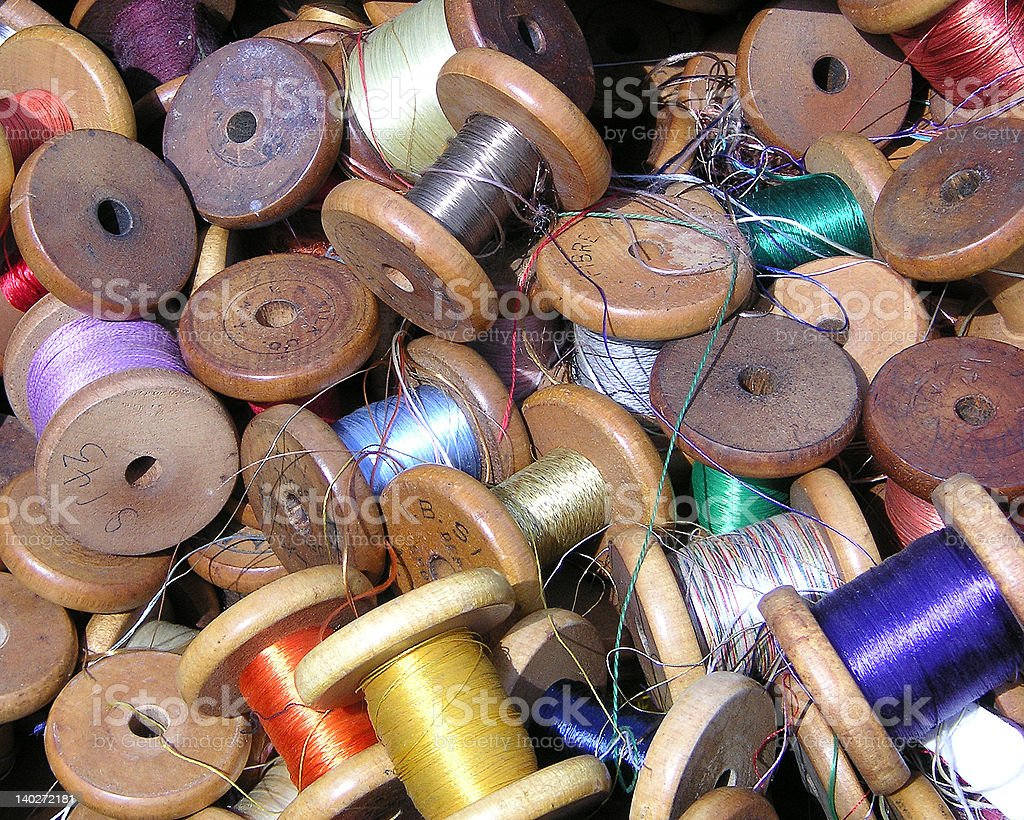 Box of threads royalty-free stock photo
