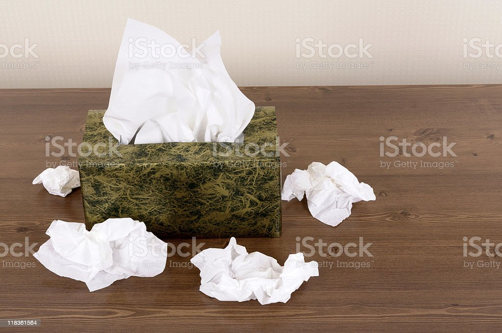 Box of tissues royalty-free stock photo