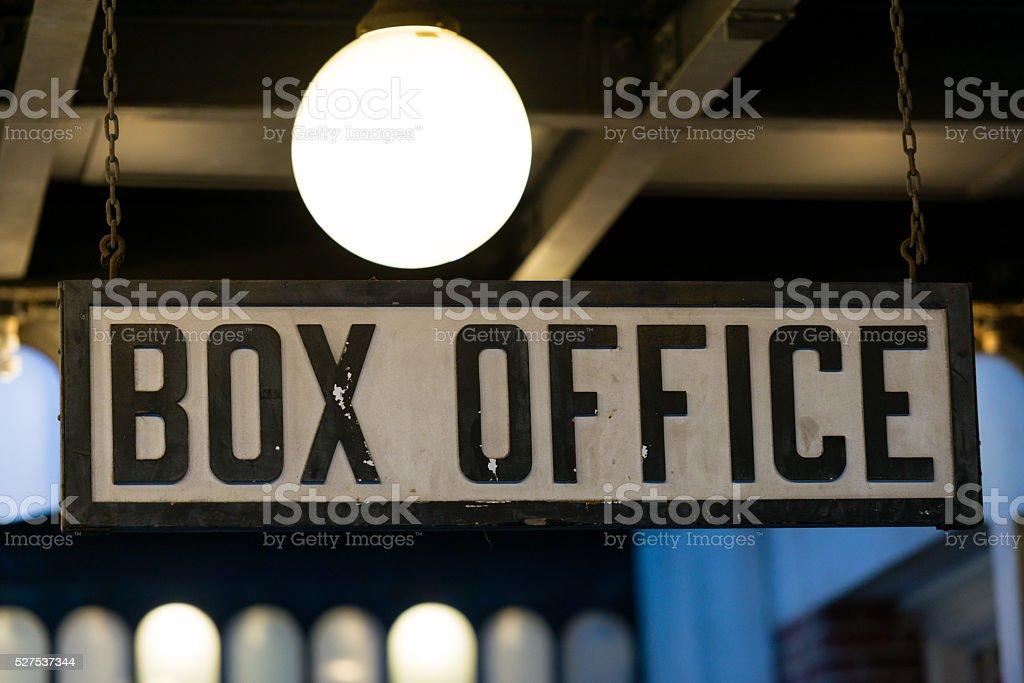 Box Office Sign.