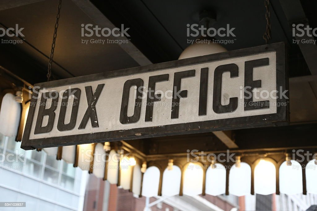 Box Office Sign stock photo