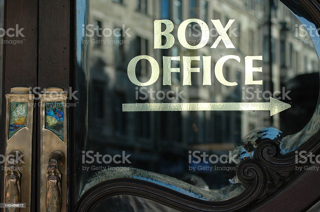 Box Office this way stock photo