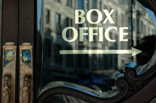 Box Office This Way Stock Photo - Download Image Now