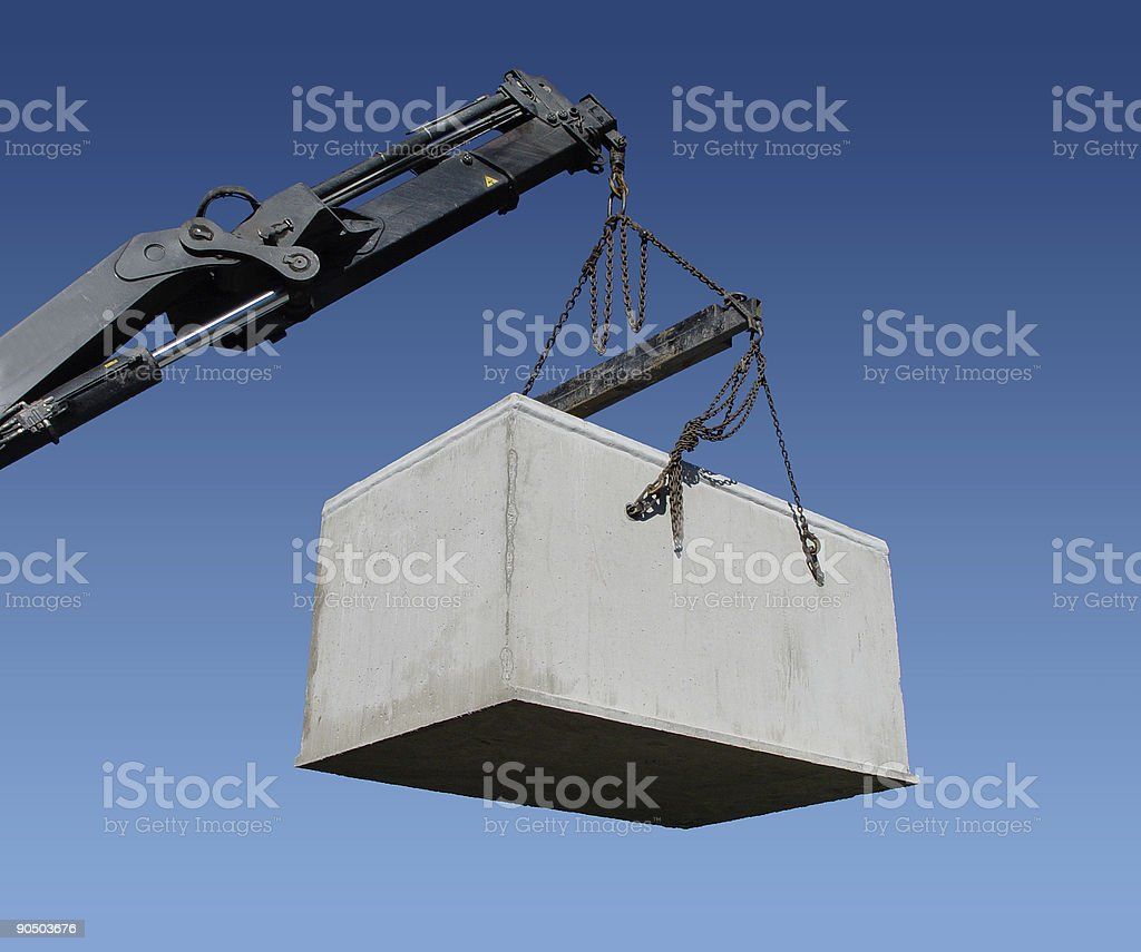 Box on a crane! royalty-free stock photo
