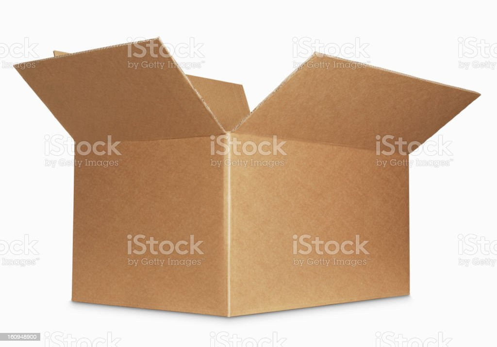 box open isolated over a white background stock photo