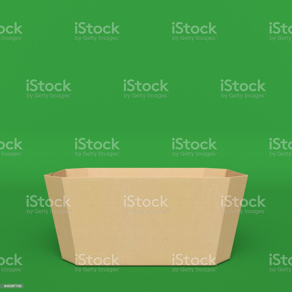 Box packages isolated on hromakey. 3D illustration stock photo