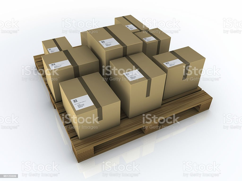 box pallet royalty-free stock photo