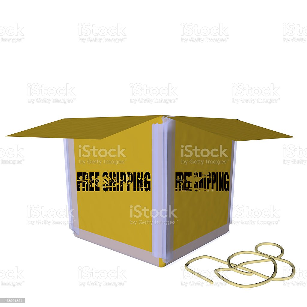 3D Box royalty-free stock photo